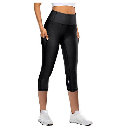 Women Crop Leggings With Pocket Female Sport Fitness Workout High