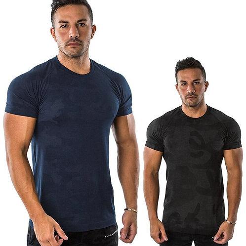 Cotton Short Sleeve Camouflage t Shirt Men   Running T-Shirts