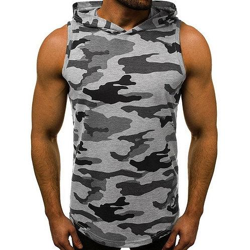 Men's Fashion Hooded Tank Tops Hoodie Sleeveless Tops Male
