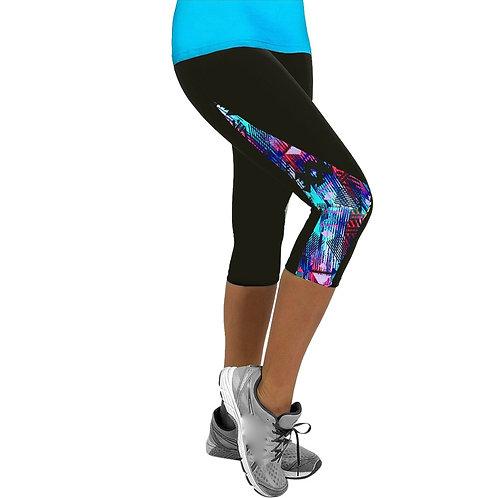 High Waist Leggings Ladies Floral Exercise Fitness Leggings Gym Casual
