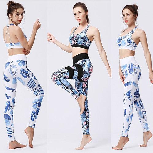 2PCS/Set Seamless Fitness Women Yoga Suit High Stretchy Workout Sport