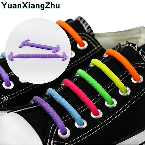 Semicircle Silicone Shoelaces New  Elastic Silicone Shoelace Special
