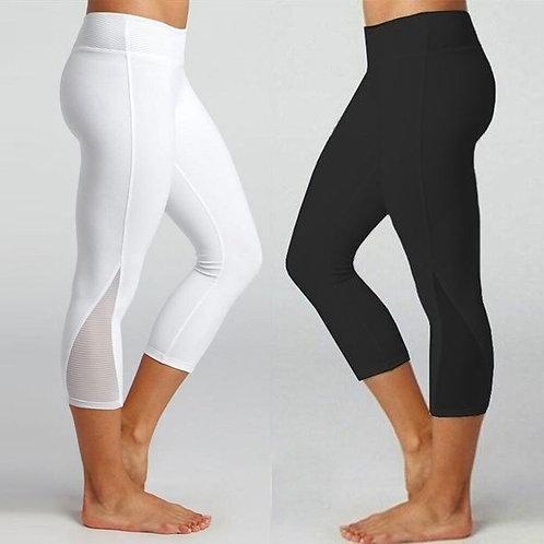 Summer Women Cropped Yoga Pant Elastic Sport Leggings Skinny Capris