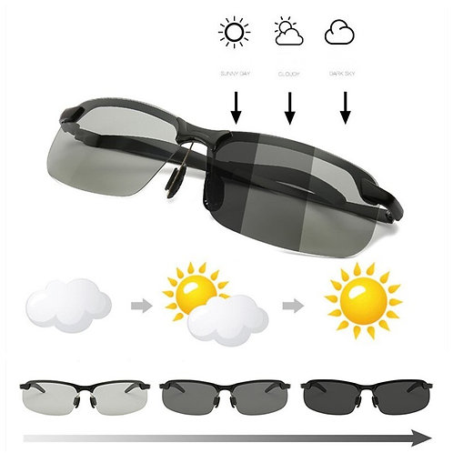 Photochromic Sunglasses Men Polarized Driving Chameleon Glasses Male