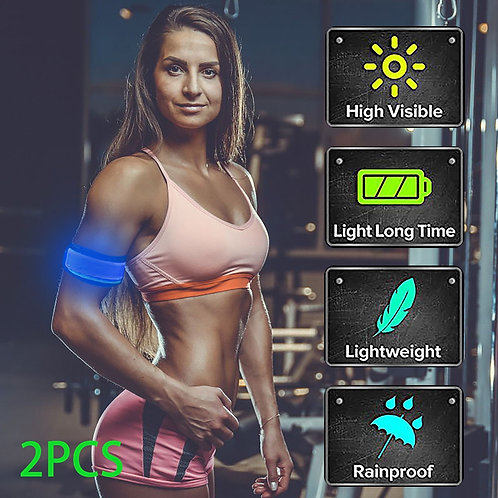 Sports Light Up Led Armbands For Running Reflective Gear Flashing