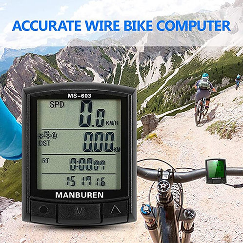 Waterproof Bicycle Computer Professional Wireless LCD Computer