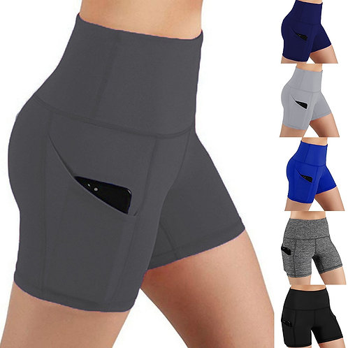 Yoga Shorts With Pockets Summer Solid Women Joging Biker Running