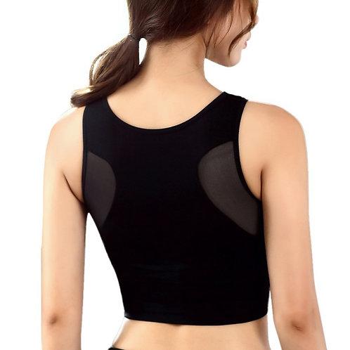 Women Mesh Breathable Sports Bra Fitness Padded Bra Workout