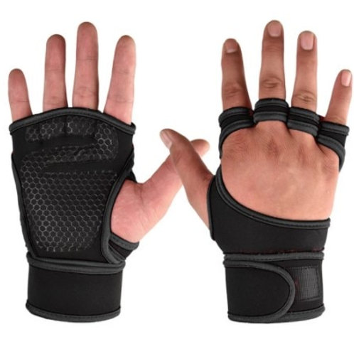 1 Pair  slip Sports Gym Fitness Gloves Shockproof Weight Lifting