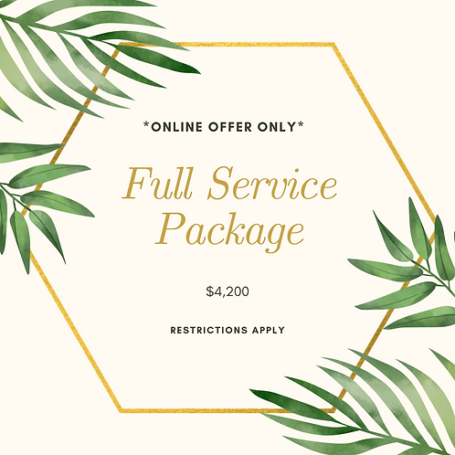 Full-Service Wedding Package