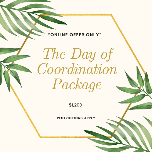 Day of Coordination Package