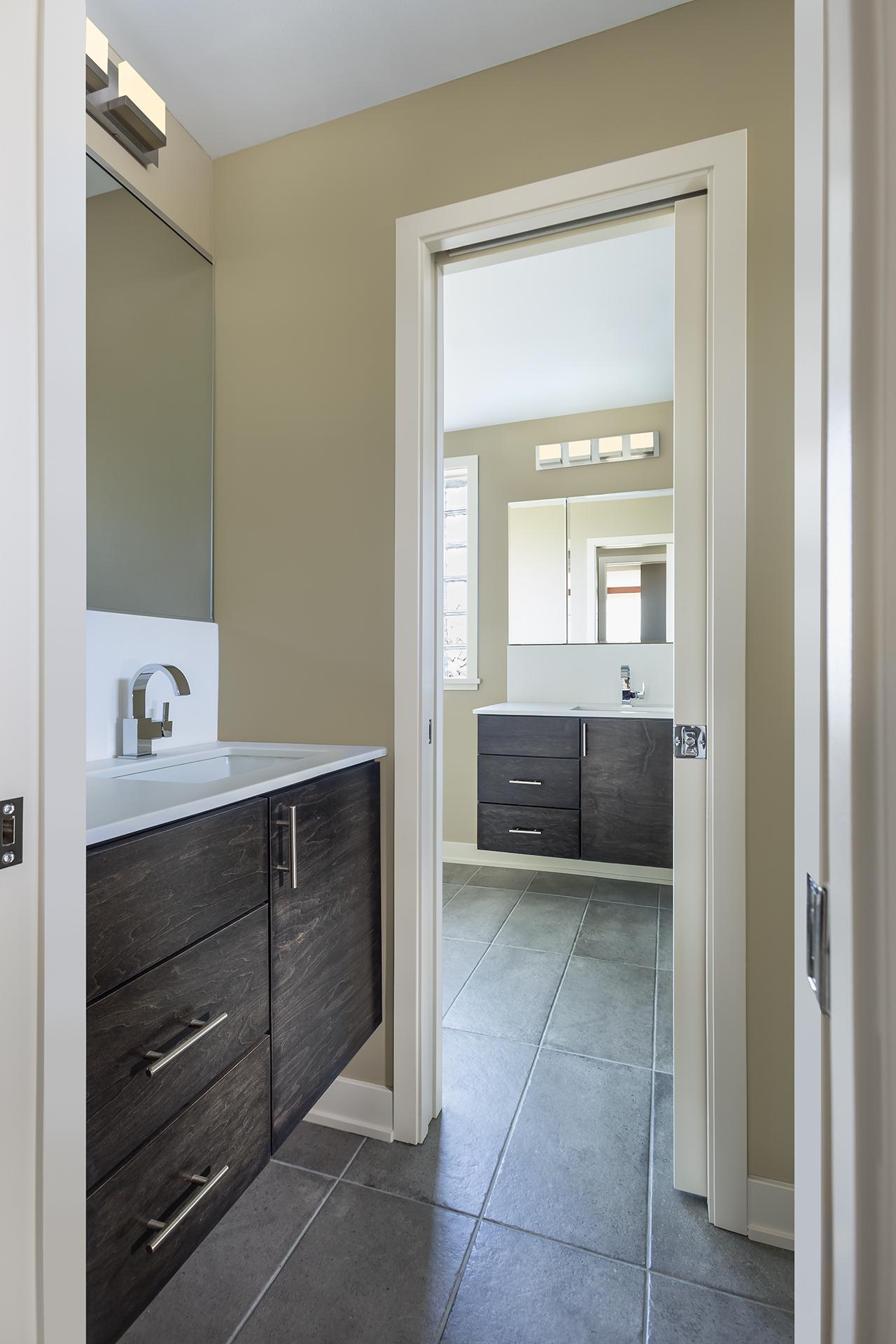 Half Bathroom into Master Bathroom