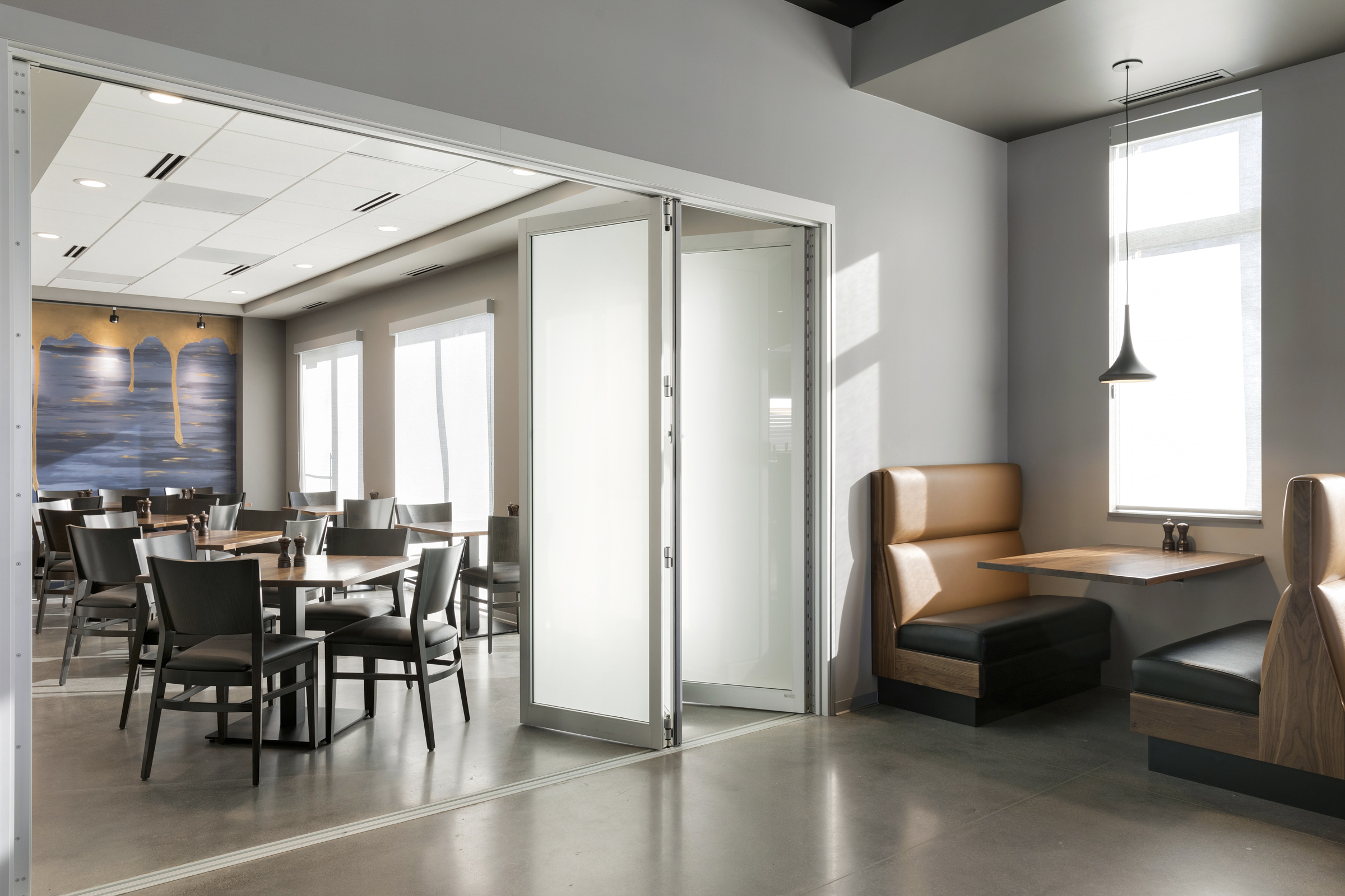 Private Dining Folding Door Closed