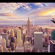 FLYING OVER NEW YORK