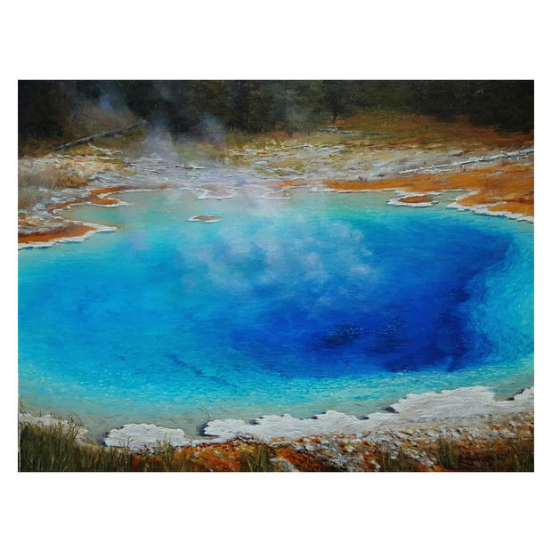 Orange & Blue - Yellowstone - Sold