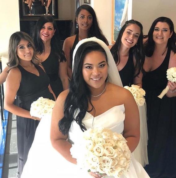 Bridal Makeup bride by Roxana Bridal party by Tatiana & Roxana