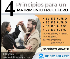 4 Principios para un matrimonio fructífero.