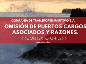 Omisión de Puertos zona central, cargos asociados y razones.