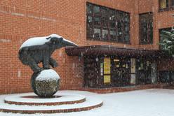 Unser Elefant im Schnee
