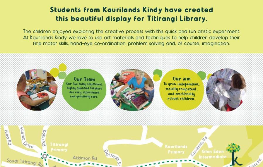 Kaurilands Kindy Display Poster