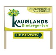 Kaurilands Kindy Driveway Signage