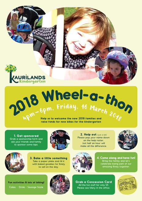 Kaurilands Kindy Poster for Wheelathon Fundraiser