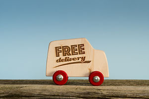 Free delivery van, handmade wooden toy t