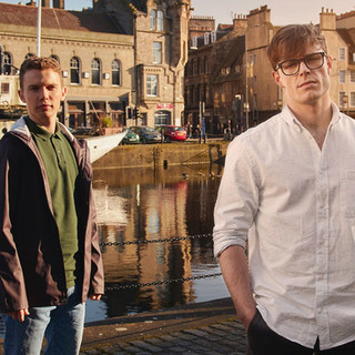 Rory Barraclough and Callum Kerr as Will and Adam