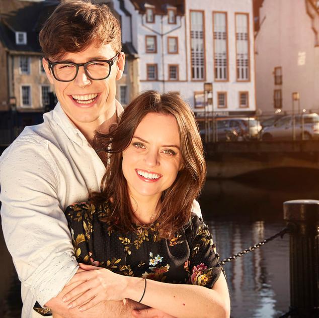 Callum Kerr and Rebecca Harrod as Adam and Jayne