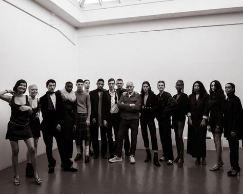 Michael O'Brien with Models.jpg