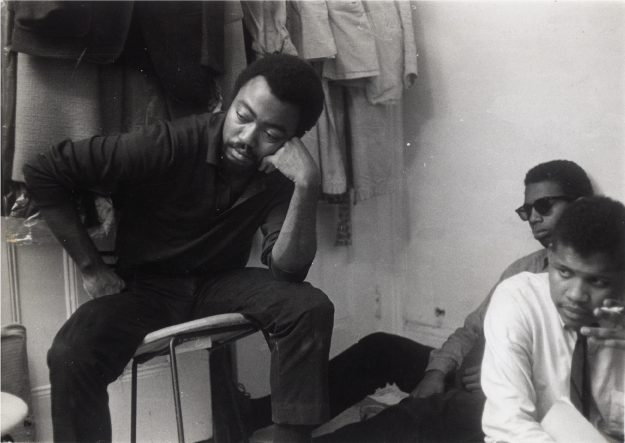 Askia Touré, Lorenzo Thomas, and Ishmael Reed at Umbra Writers' Workshop gathering, 1963.