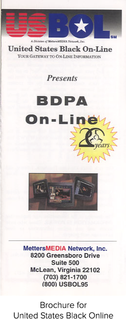 Brochure for United States Black Online