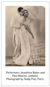 Performers Josephine Baker and Paul Meeres, undated. Photograph by Teddy Piaz, Paris.