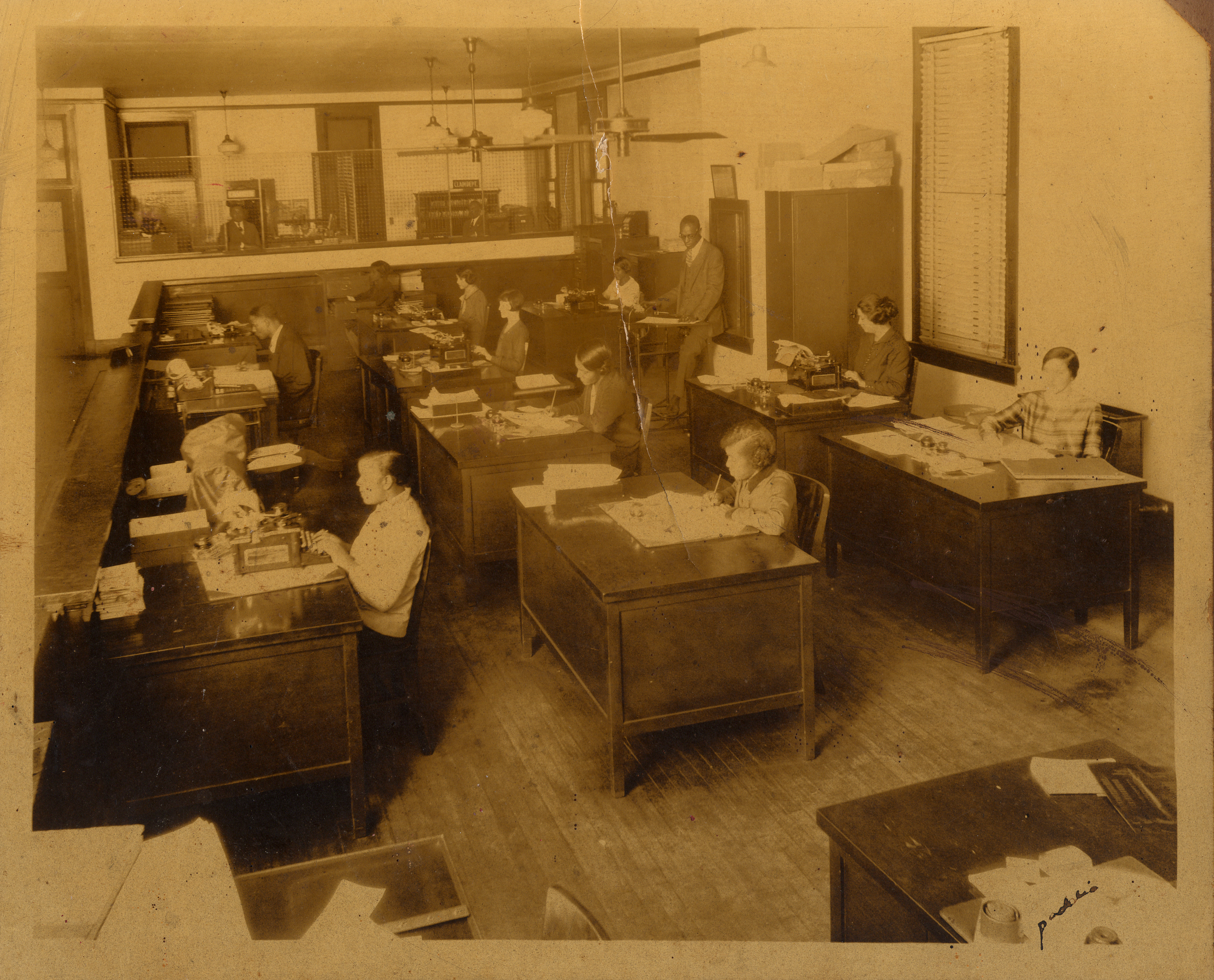 Undated photograph of the Unity Industrial Life Insurance Company office [?] by Villard Paddio.