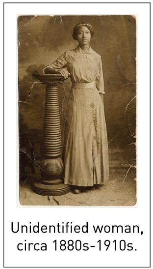 Unidentified woman, circa 1880s-1910s.