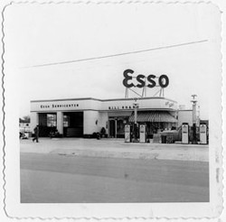 Esso Service Station owned by Ellis Marsalis Sr., circa July 1952?