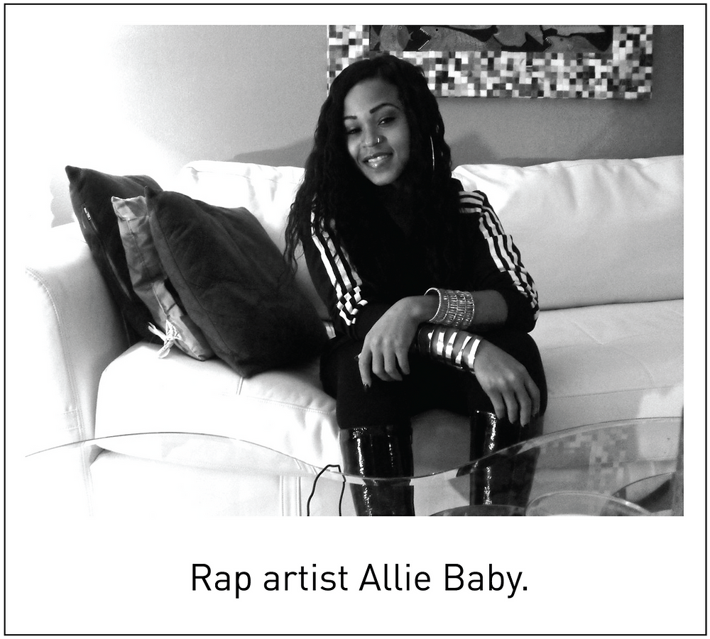 Rap artist Allie Baby.