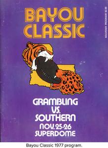 Bayou Classic 1977 program.