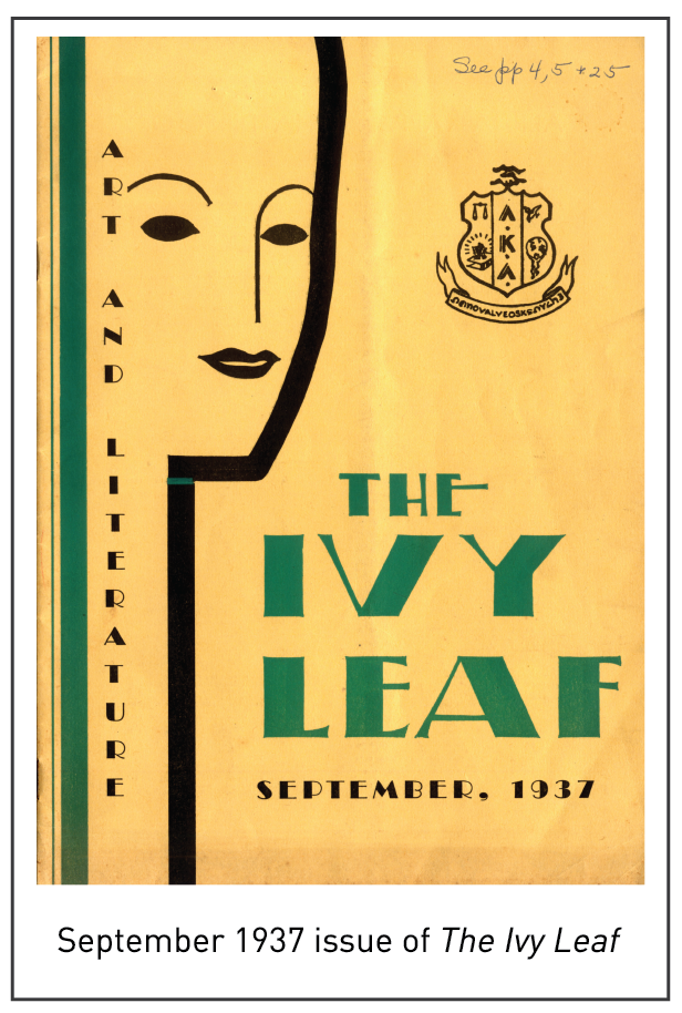 September 1937 issue of The Ivy Leaf