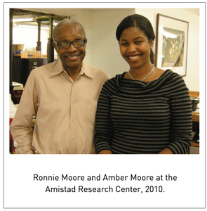 Ronnie Moore and Amber Moore at the Amistad Research Center, 2010.