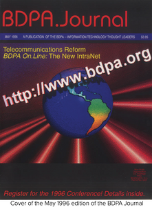 Cover of the May 1996 edition of the BDPA Journal