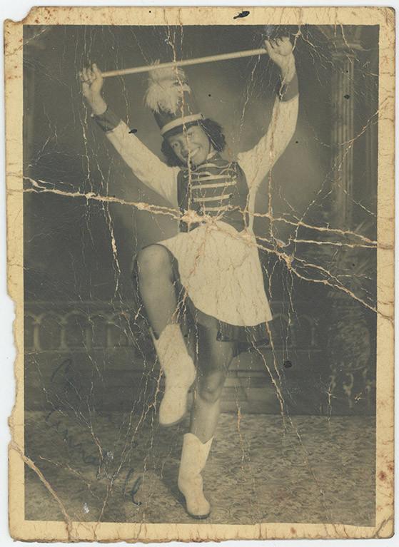 Annabelle Bernard as a young girl. Photograph by Perrault's Studio.