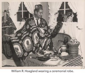 William R. Hoagland wearing a ceremonial robe.