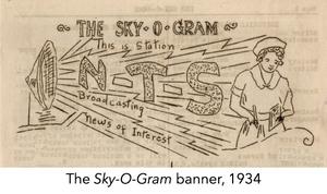 The Sky-O-Gram banner, 1934