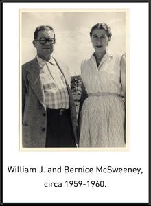 William J. and Bernice McSweeney, circa 1959-1960.