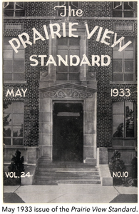 May 1933 issue of the Prairie View Standard.