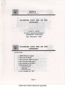 Internet informational packet