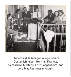 Students at Talladega College, where Gustav Ichheiser, Herman Kranold, Gerhard M. Mertens, Fritz Pappenheim, and Lore May Rasmussen taught.