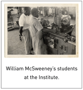 William McSweeney's students at the Institute.
