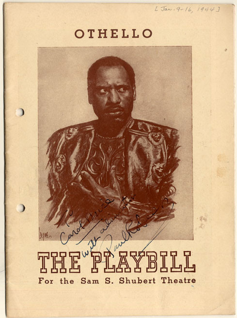 Playbill, Paul Robeson in Othello, 1944